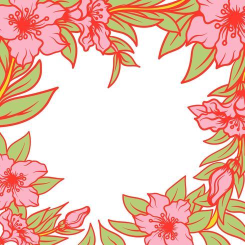 Cornice di fiori di azalea