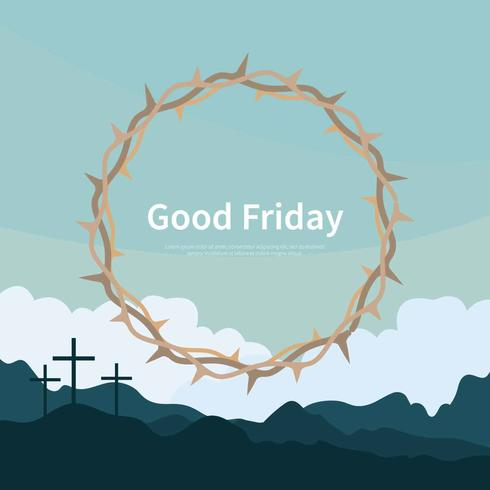 Good Friday Background with crown Illustration