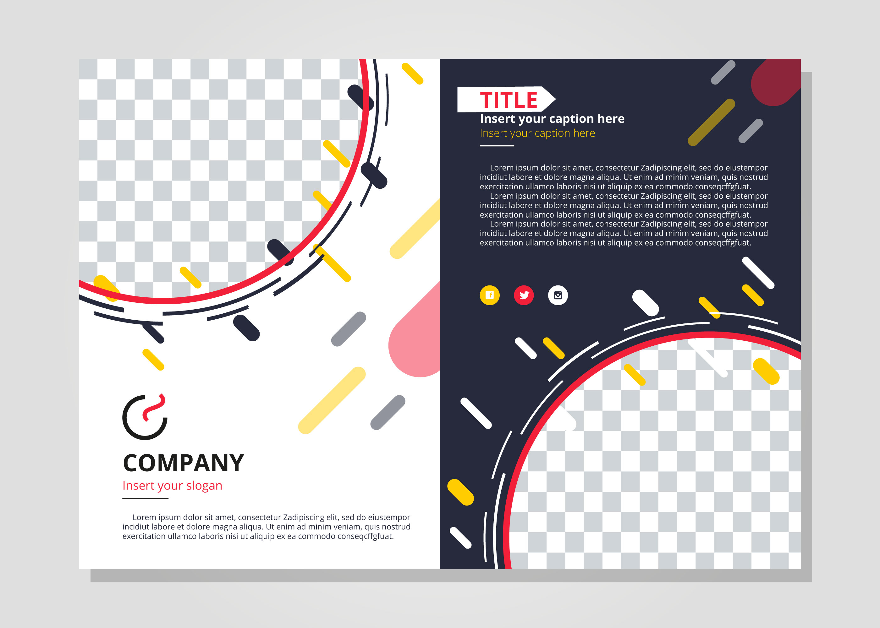 Modern Two-Fold Brochure Template - Download Free Vector Art, Stock ...