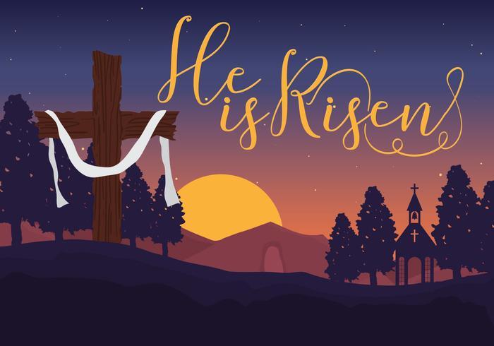 He is risen typography