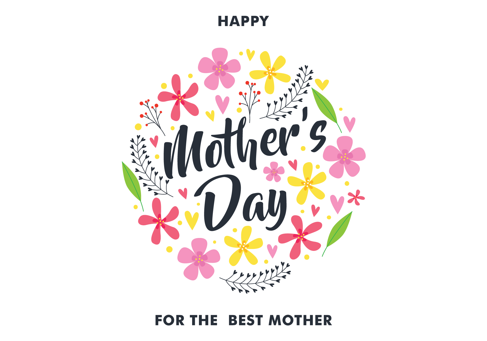 Happy Mothers Day Greeting Card - Download Free Vectors ...