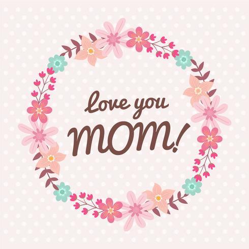 Glücklicher Blumen-Kranz der Mutter Tages