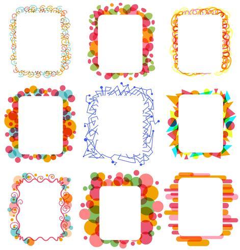 Kleurrijke frames vectoren