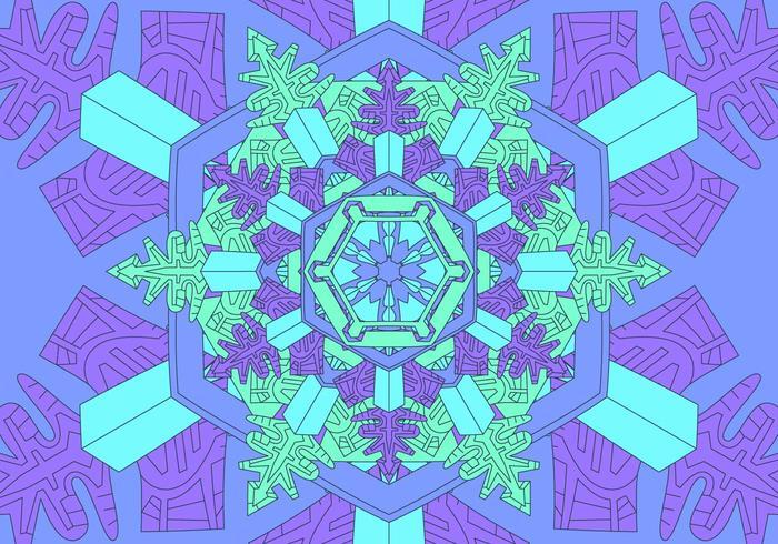 Ilustração de fundo de padrão de caleidoscópio