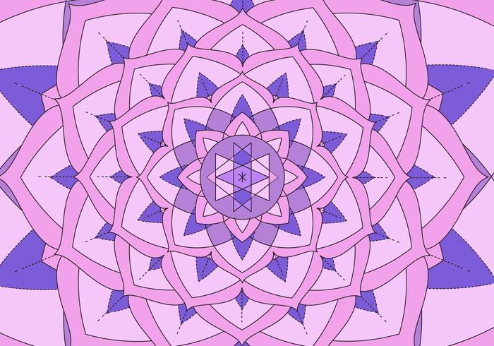 Kaleidoskop-Muster-Hintergrund-Illustration