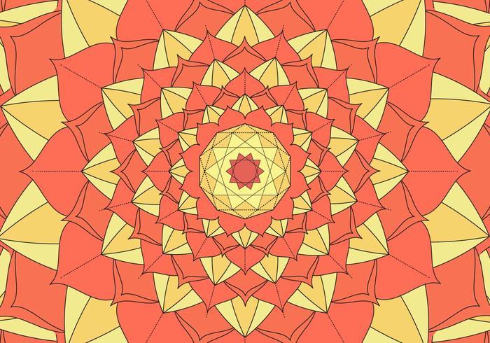 Ilustración de fondo de patrón de caleidoscopio
