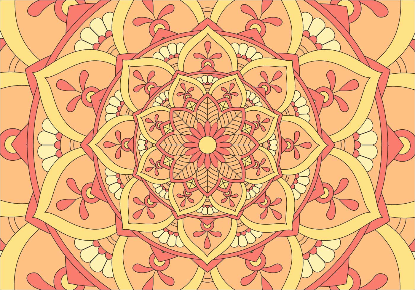 Kaleidoscope Pattern Background Illustration - Download ...
