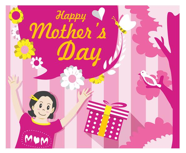 Mother's Day Card Vector