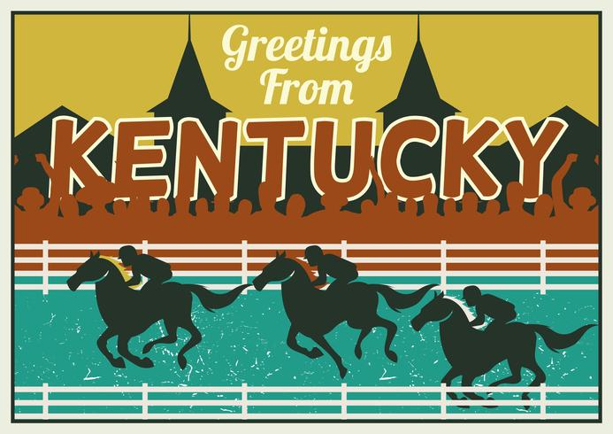 Concept de carte postale Kentucky Derby vecteur