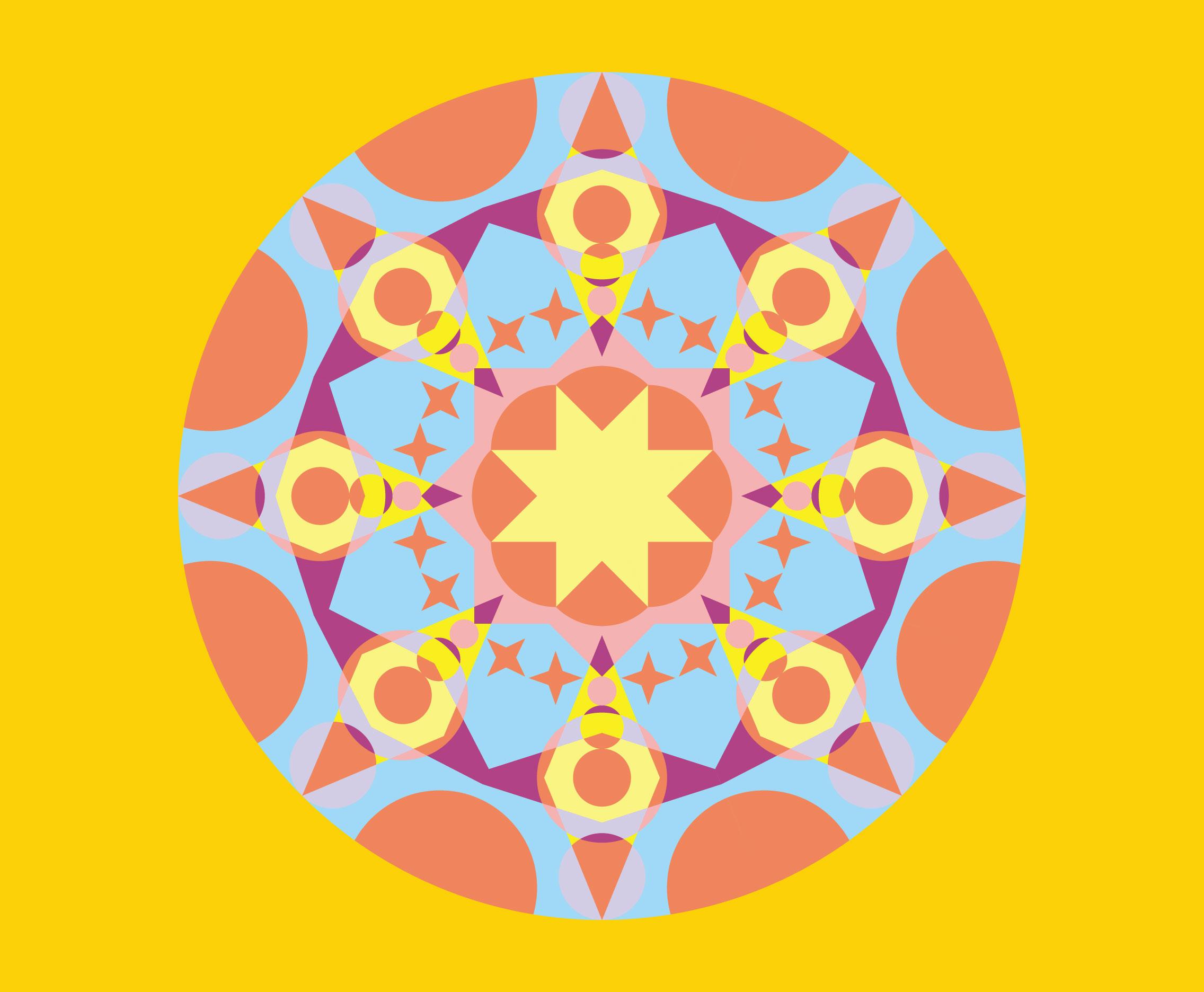 Geometric Kaleidoscope Pattern Vector - Download Free Vector Art ...