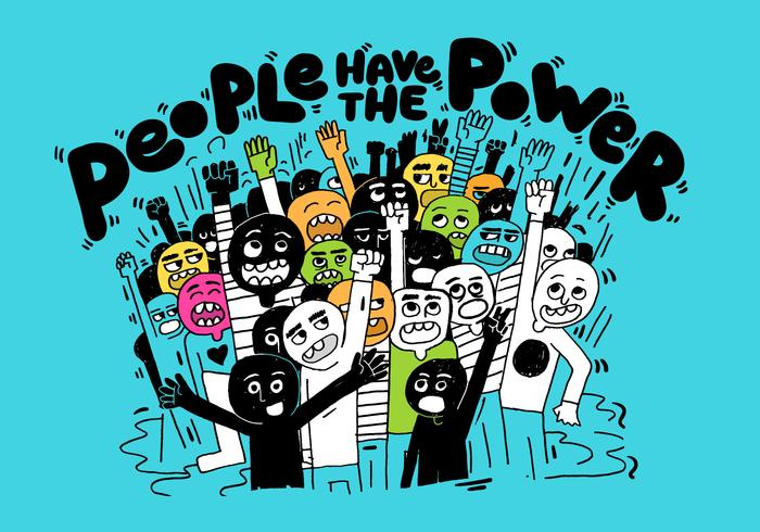folk makt illustration vektor