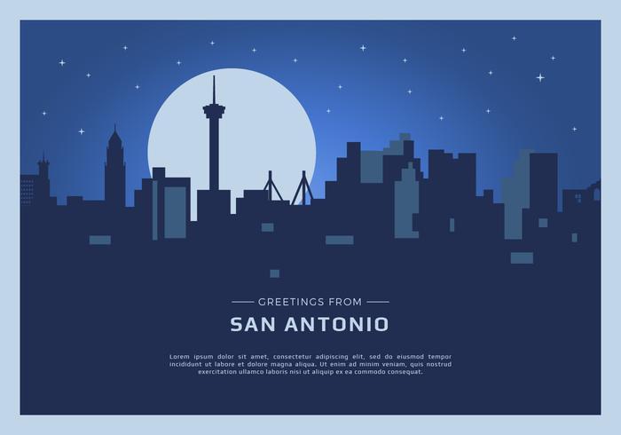 San Antonio carte postale Vector Illustration