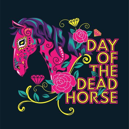 Sugar Skull Horse Inspired from Dia de los Muertos