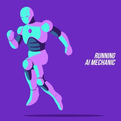 Running Ai Mechanic Vector