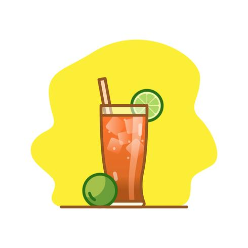 Michelada cocktail vector