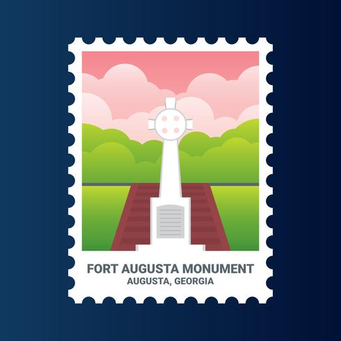 Fort Augusta Monument Georgia United States Stamp