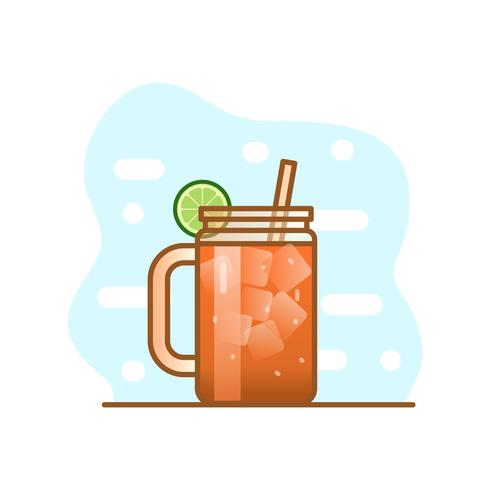 illustration de cocktail michelada vecteur