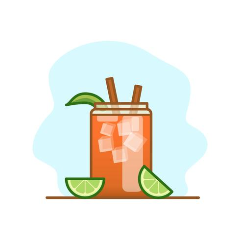 Michelada Cocktail Illustration