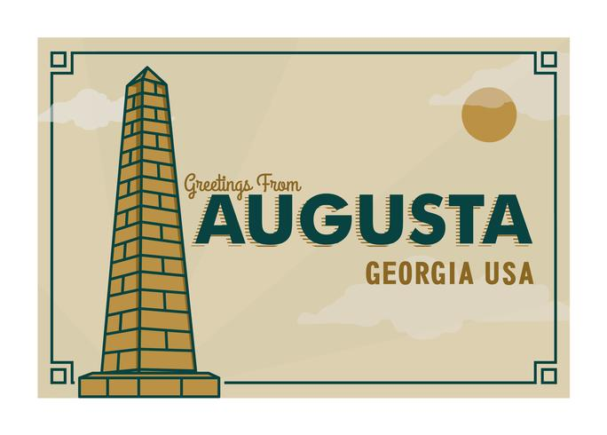 Augusta Georgia vykort Illustration