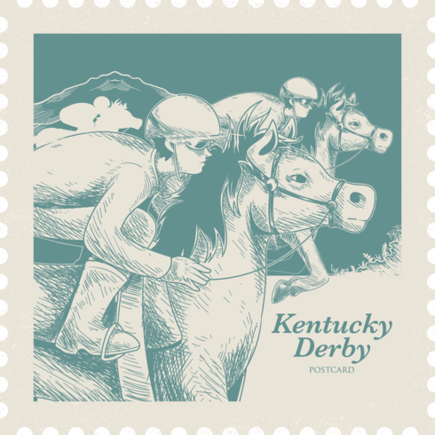 cartolina di derby kentucky vettore
