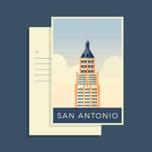 Vecteur de carte postale de San Antonio