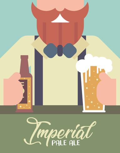 Imperial Pale Ale Flat Illustration Vector
