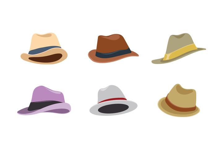 Collection de vecteur de chapeaux Vintage Derby du Kentucky