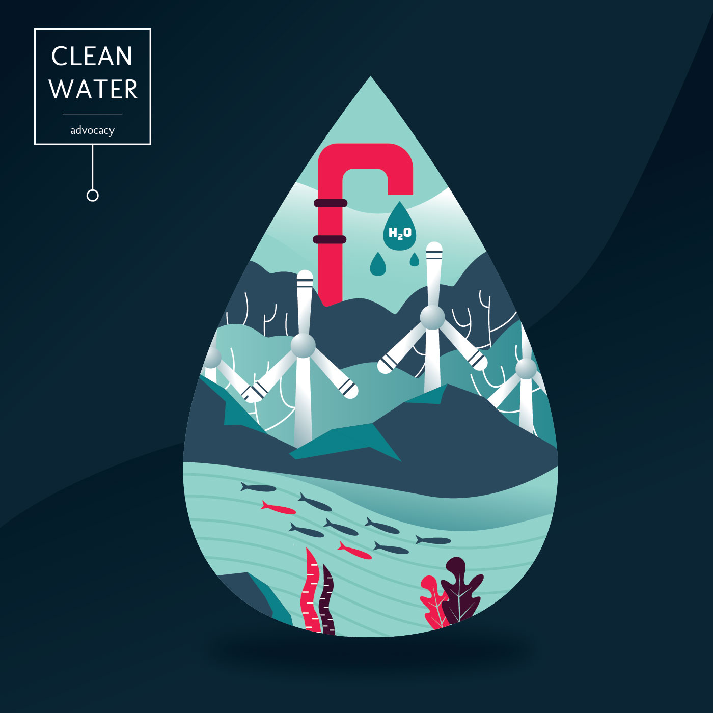 Green Mountain Power >> Clean Water Advocacy Vector Design - Download Free Vectors, Clipart Graphics & Vector Art