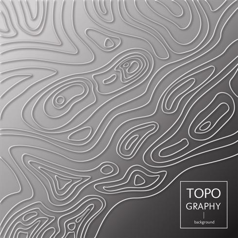 Design de vetor de topografia 3D