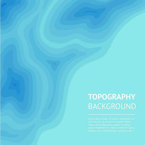 Blue Topography Background Vector