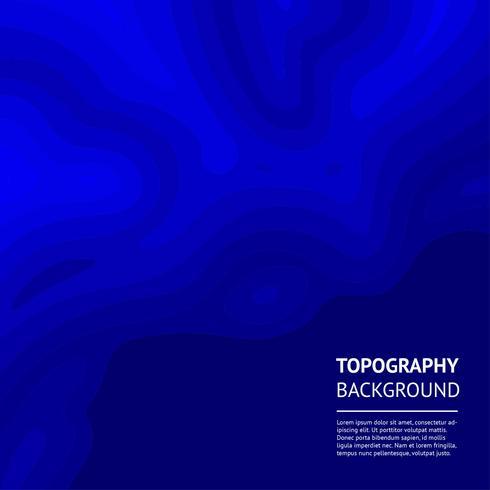 Topografia de fundo Vector azul escuro