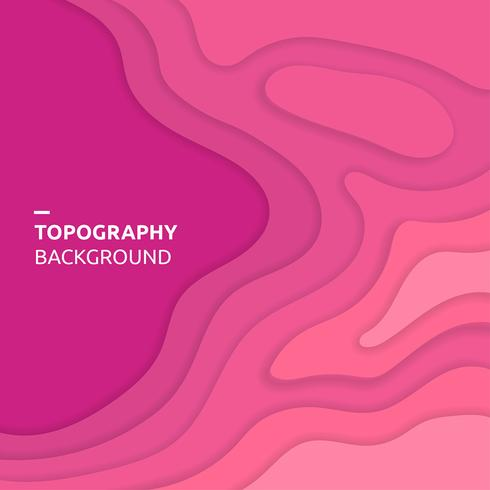 Topography Background Pink Vector
