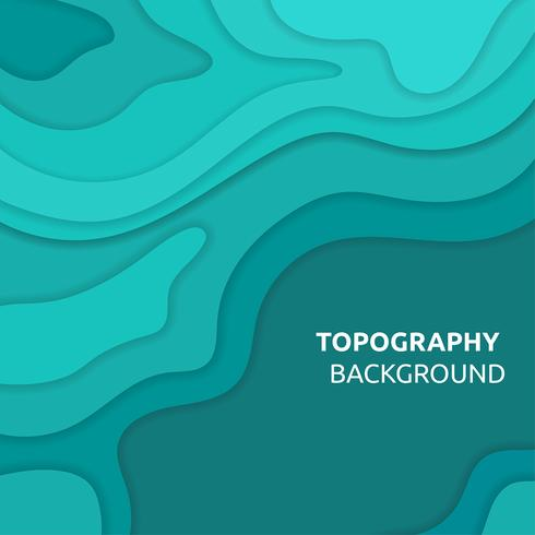 Topografía de fondo Turqoise Vector