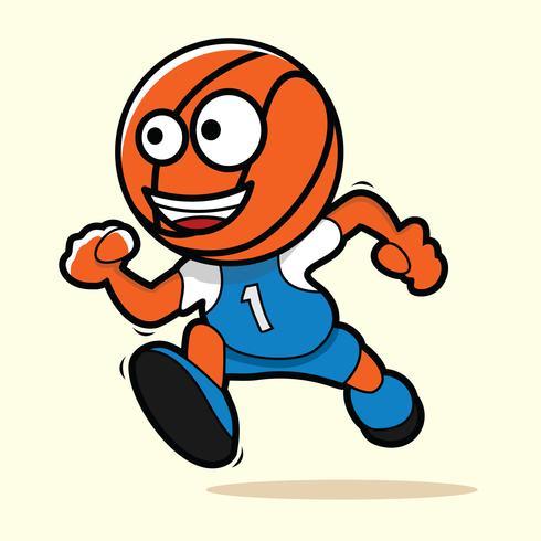 Illustration de mascotte de basket-ball