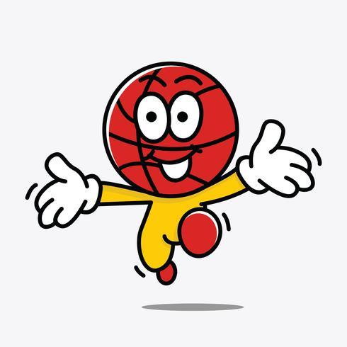 Ilustração de mascote de basquete vetor