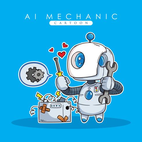 Ai mekanisk illustration vektor