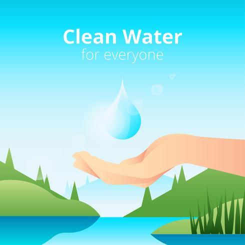 Sauberes Wasser für jeden Vektor