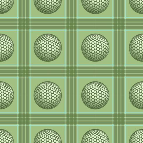 Patrón de golf vintage