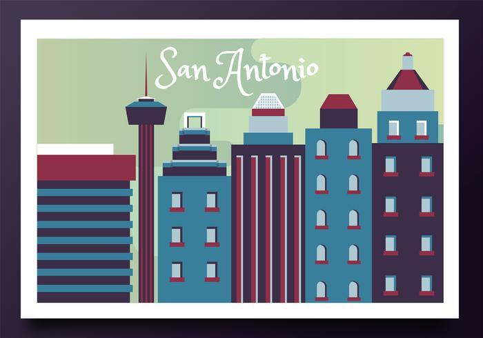 San Antonio Post Card Vector Design