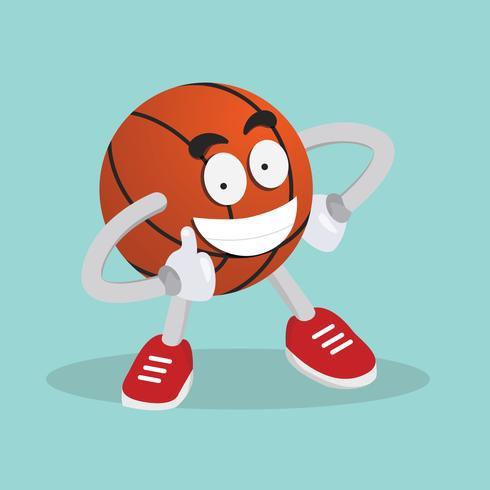 Ilustración de mascota de baloncesto