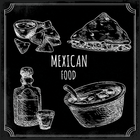 Menu de la cuisine mexicaine