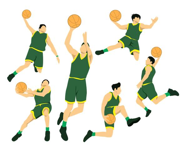 slam dunk acties vector