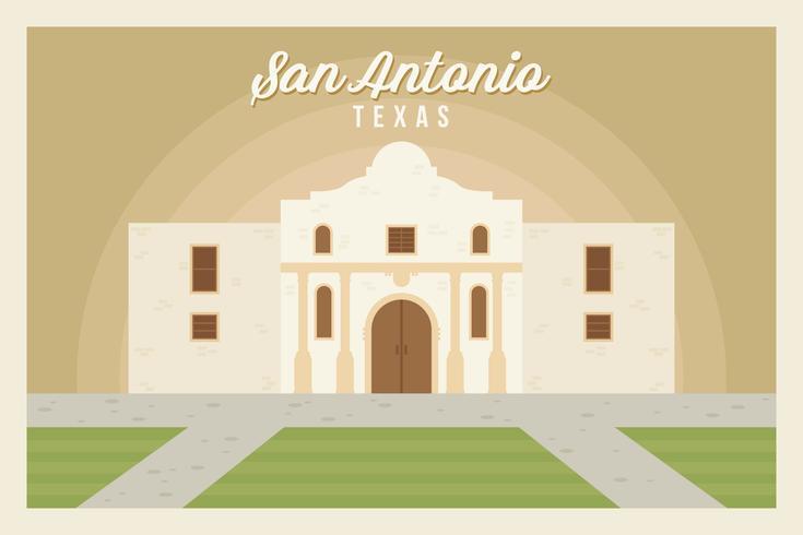 San Antonio Postcard Vectors