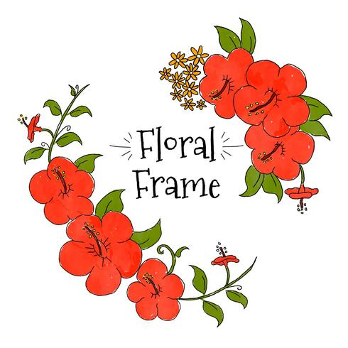 Red Cayenne Floral Frame