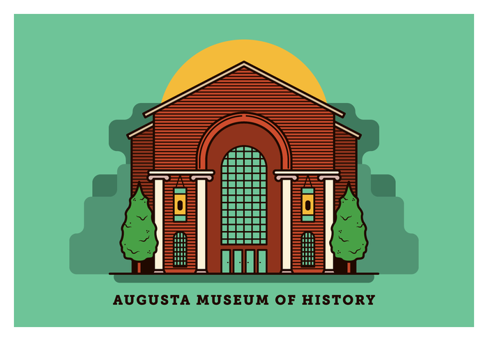 Augusta Georgia Postcard Vector