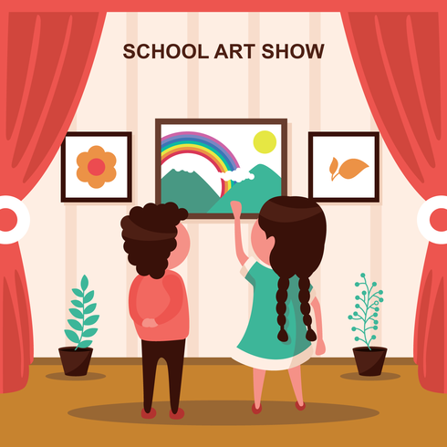 Schule Art Show Illustration