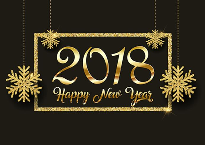 Glitter Happy New Year background  vector