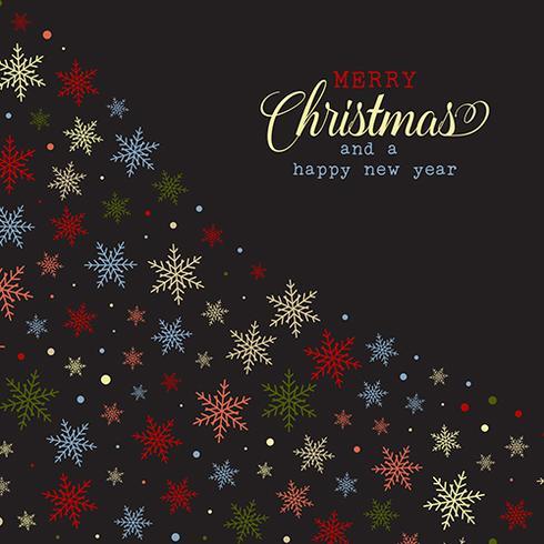Christmas snowflake background