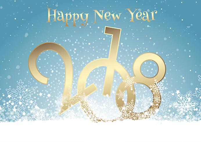 Happy New Year background with snow