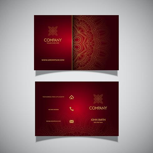 Business card with elegant decorative design
